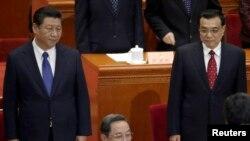中國總理李克強(右)和中國國家主席習近平。