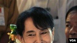 Pemimpin Pro-Demokrasi Burma Aung San Suu Kyi (foto: dok).