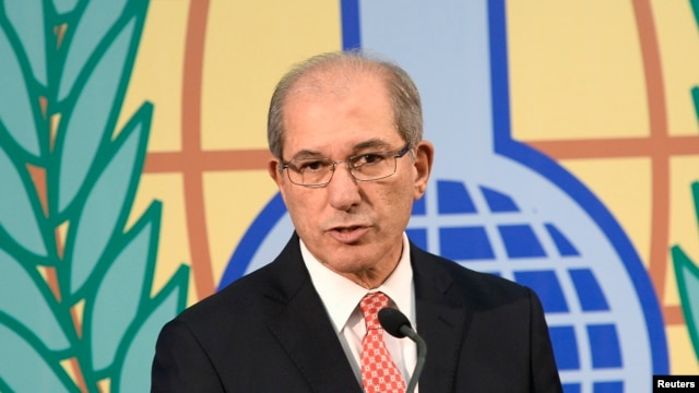 FILE - Organization for the Prohibition of Chemical Weapons (OPCW) Director General Ahmet Uzumcu.
