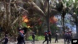 지난달 12일 불교도 주민들과 로힝야족 무슬림들간에 유혈충돌이 벌어진 마을
