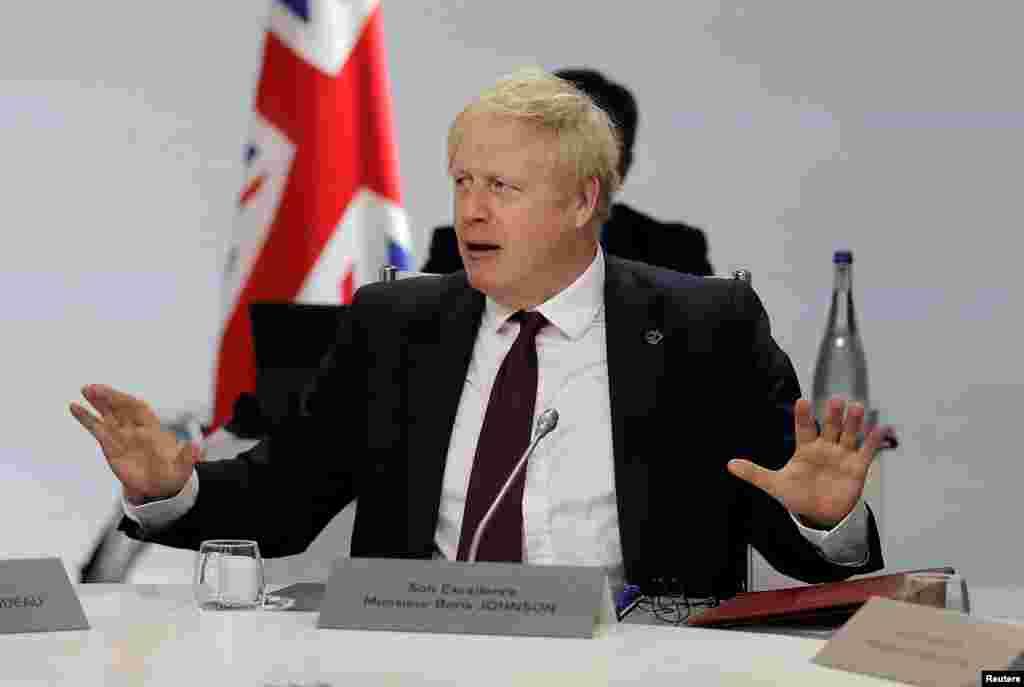 برطانیہ کے وزیر اعظم بورس جانسن بھی اجلاس میں شریک ہیں جہاں بریگزٹ پر بھی بحث ہوئی۔