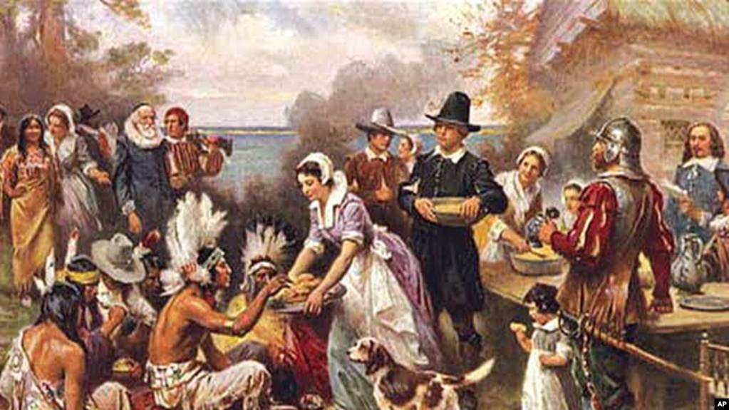 European settlers and native americans for What did they eat at the first thanksgiving
