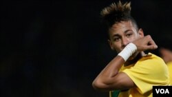 Neymar, photo datant du 13 juillet 2011. (AP Photo/Fernando Vergara)