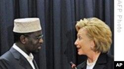 索马里总统会克林顿国务卿