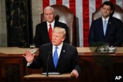 صدر ٹرمپ اپنے سٹیٹ آف دی یونین ایڈریس میں اپنی پالیسی کے اہم نکات پیش کر رہے ہیں۔