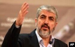 Hamas leader Khaled Mashaal.