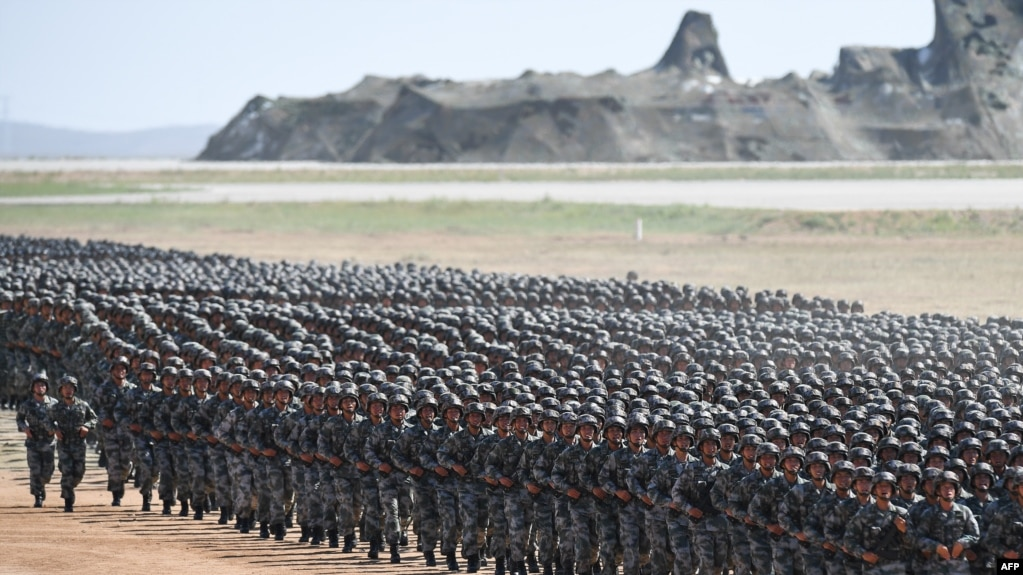 中国解放军2017年在内蒙古演习。(资料照)