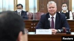 스티브 비건 미국 국무부 부장관이 9일 서울에서 최종건 한국 외교부 1차관과 회담했다.