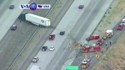 Manchetes Americanas 26 de Julho: Camião colide contra carro de bombeiros