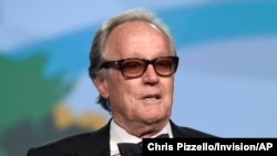 FILE - Peter Fonda is pictured at the 29th annual Palm Springs International Film Festival in Palm Springs, Calif., Jan. 2, 2018.