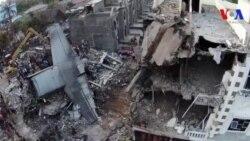 Máy bay quân sự Indonesia lao xuống thành phố