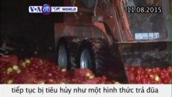 Trả đũa phương Tây, Nga tiêu huỷ hàng tấn thực phẩm (VOA60)