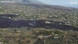 Drone Footage Shows Lava and Smoke Over La Palma