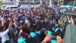 تظاهرات خيابانی در بانکوک پس از کودتای نظامی