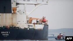 Supertanker Grace 1 di perairan Gibraltar, 6 JUli 2019. (Foto: dok).