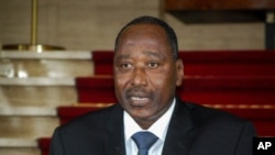 FILE - Amadou Gon Coulibaly, then secretary general of the presidency, speaks at the presidential palace in Abidjan, Ivory Coast, on April 13, 2012.