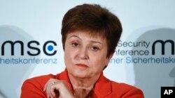 Kristalina Georgieva, directrice générale du Fonds monétaire international, assiste à une session de la Conférence de Munich sur la sécurité à Munich, en Allemagne, le 14 février 2020