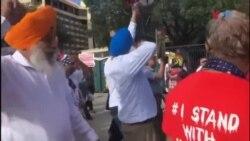 ہیوسٹن میں بھارتی وزیر اعظم مودی کے خطاب کے موقع پر مظاہرہ