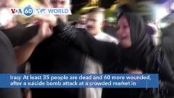 VOA60 World PM- Sadr City market bombing kills at least 35