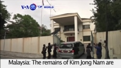 VOA60 World PM - Malaysia Releases Body of North Korea Leader's Half Brother