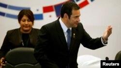 Le président du Guatemala, Jimmy Morales le 5 juin 2019.