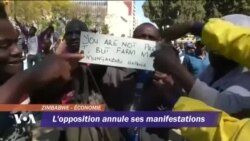 L'opposition annule ses manifestations au Zimbabwe