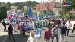 Çin Başkonsolosluğu Önünde Uygur Protestosu