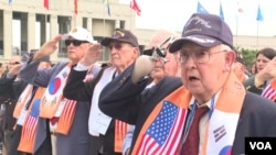 지난해 9월 서울 전쟁기념관에서 열린 장진호 전투 영웅 추모행사에 한국전쟁 유엔 참전용사들이 참석했다.