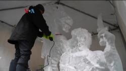 Festival Patung Es Virginia Diikuti Pemahat dari Seluruh AS