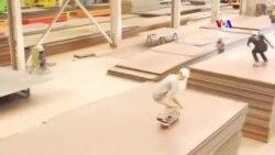 SHORT VIDEO: Սքեյթբորդի սահորդները զվարճանում են գործարանում