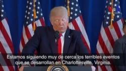 Trump condena violencia en Virginia: el odio y la división debe parar