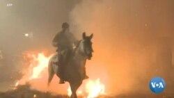 """En Espagne, on """"purifie"""" les chevaux sur des brasiers"""