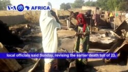 VOA60 Africa - Boko Haram militants killed at least 65 people at a funeral in northeastern Nigeria