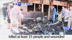 VOA60 World- Iraq: Islamic State terrorists killed at least 35 people at Shi'ite shrine north of Baghdad
