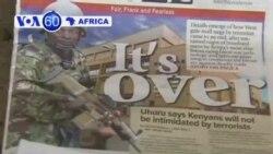 VOA60 Afirka - Satumba 25, 2013, An kawo karshen aika-aikar Nairobi a kasar Kenya inda yanzu jama'ar garin ke juyayin wadanda aka kashe