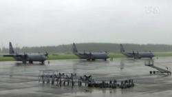 美軍駐日空軍基地演習秀肌肉