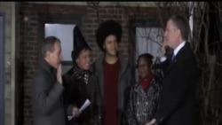 2014-01-01 美國之音視頻新聞: 二十年來首名民主黨籍紐約市長宣誓就職