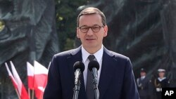Polish opposition lawmakers ask Prime Minister Mateusz Morawiecki whether the special services bought Pegasus, the spyware produced by NSO Group, an Israeli company.
