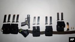 Oružje pronađeno u kuči Semjuela Kesidija