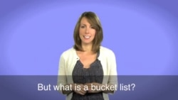 English in a Minute: Bucket List