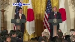 Manchetes Americanas 10 Fevereiro 2017: Encontro entre Trump e Abe para assegurar relações entre os dois países