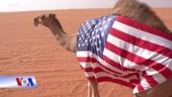 Giáo viên Mỹ tham gia lễ hội lạc đà Ả Rập Xê Út