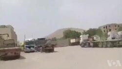 فیلمی از ادامه اعتصاب کامیونداران و رانندگان در کنگاور در روز پنجشنبه