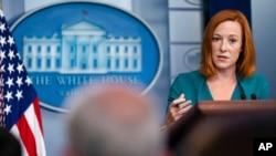 Sekretarica za štampu Bijele kuće Jen Psaki na brifingu za novinare, 21. oktobra 2021.