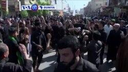 VOA60 DUNIYA: IRAQ Dubban Musulmi 'Yan Shi'a Sanye Da Bakaken Kaya Sun Yi Tururuwa Zuwa Karbala Da Ke Iraqi Domin Fara Bikin Ashura