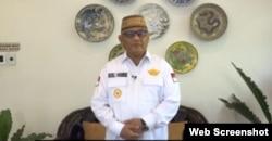 Gubernur Gorontalo Rusli Habibie imbau masyarakat Gorontalo patuhi protokol kesehatan pencegahan penyebaran virus corona, 22 Juli 2020. (Foto: Tangkapan Layar)