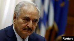 Le maréchal Khalifa Haftar à Athènes en Grèce le 17 janvier 2020.