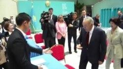 گوشۀ از روز انتخابات ریاست جمهوری قزاقستان