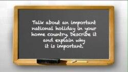 Nói tiếng Anh với người bản xứ (Luyện thi TOEFL): Talk about an important national holiday