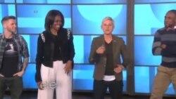 رقص میشل اوباما در شوی الن د جنرس